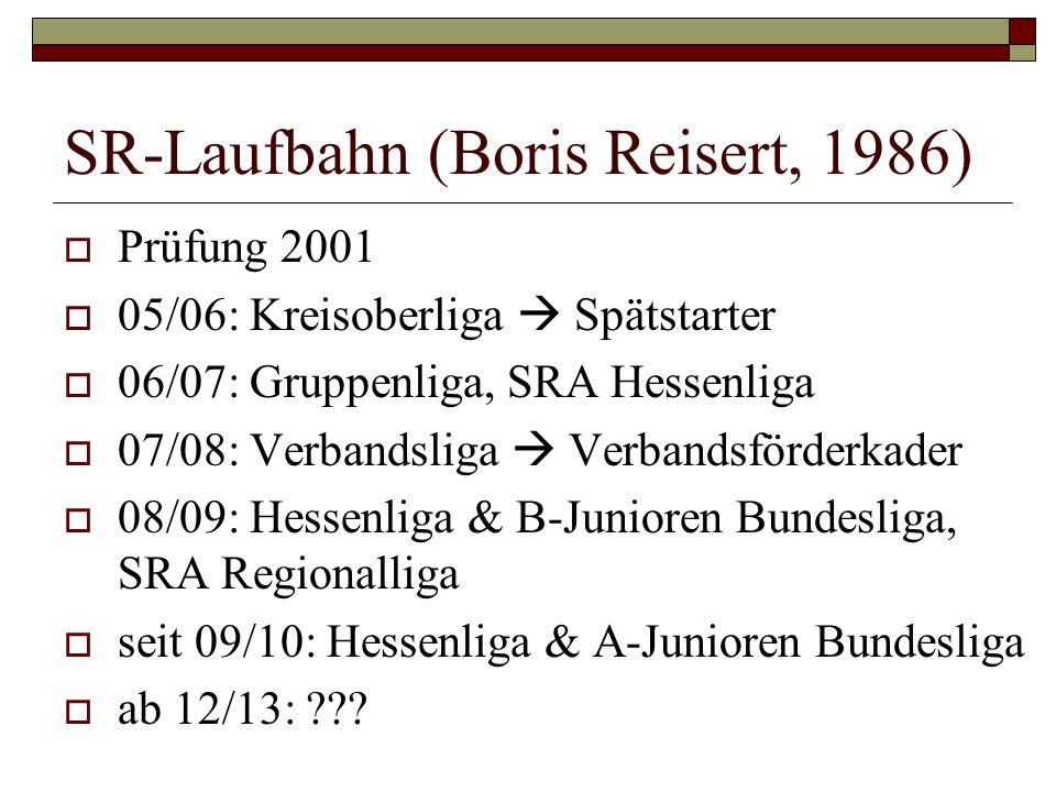 SR-Laufbahn (Boris Reisert, 1986)