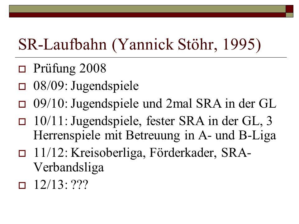 SR-Laufbahn (Yannick Stöhr, 1995)
