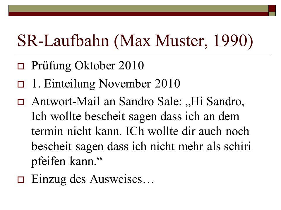 SR-Laufbahn (Max Muster, 1990)