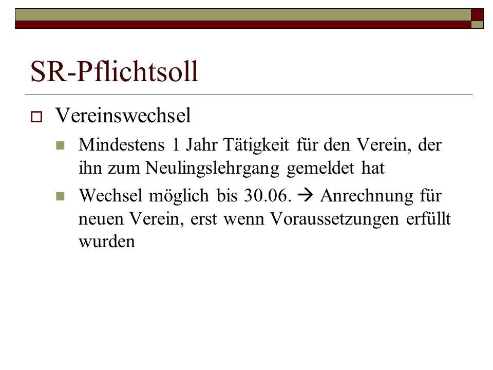 SR-Pflichtsoll Vereinswechsel