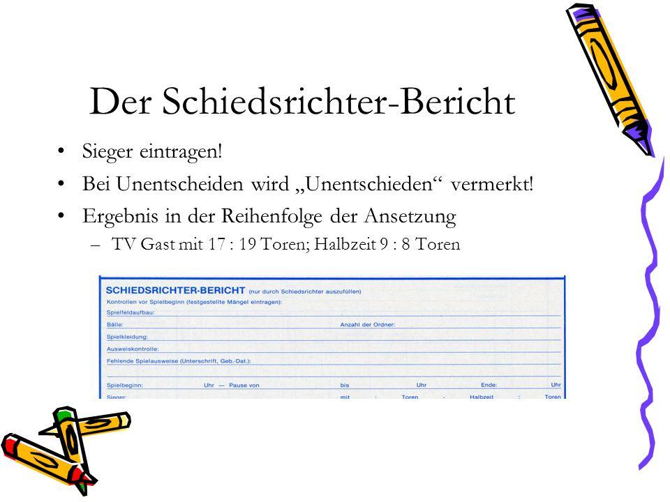 Der Schiedsrichter-Bericht