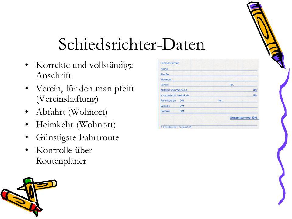 Schiedsrichter-Daten