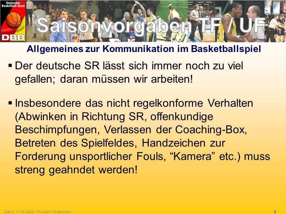 Allgemeines zur Kommunikation im Basketballspiel