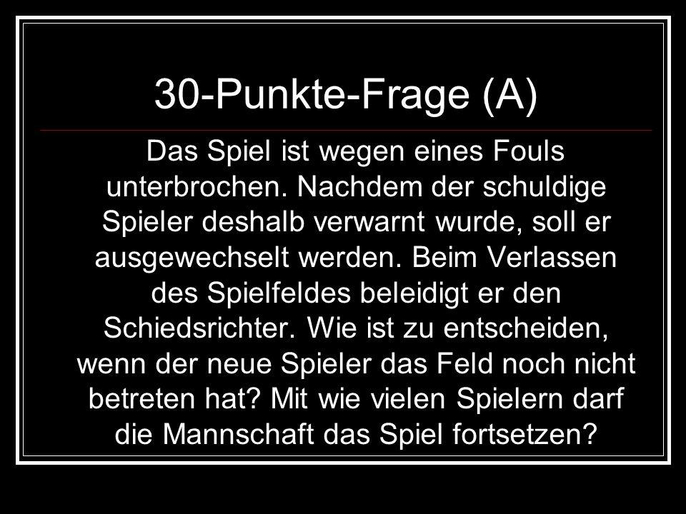 30-Punkte-Frage (A)