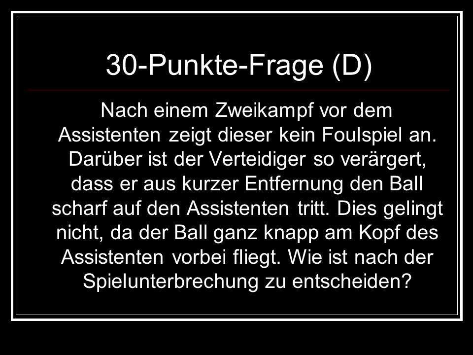 30-Punkte-Frage (D)