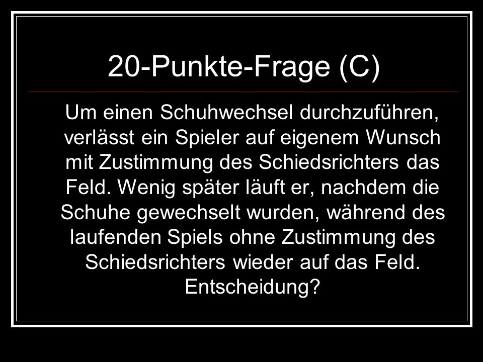 20-Punkte-Frage (C)