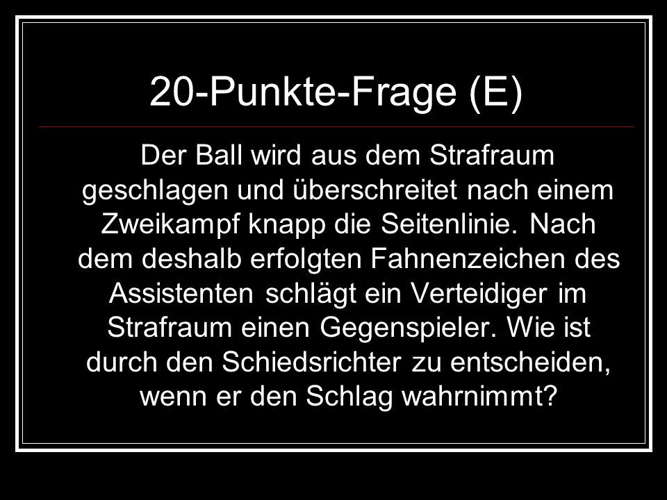 20-Punkte-Frage (E)