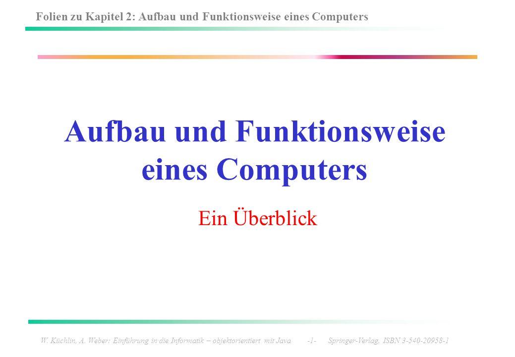 Aufbau und Funktionsweise eines Computers