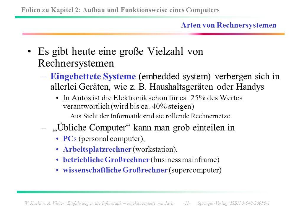 Arten von Rechnersystemen