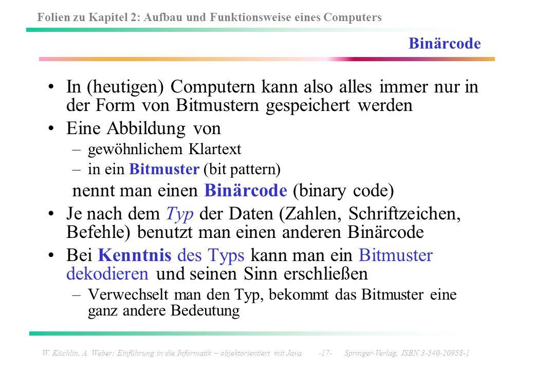 nennt man einen Binärcode (binary code)