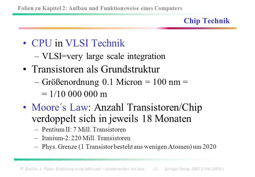 Transistoren als Grundstruktur