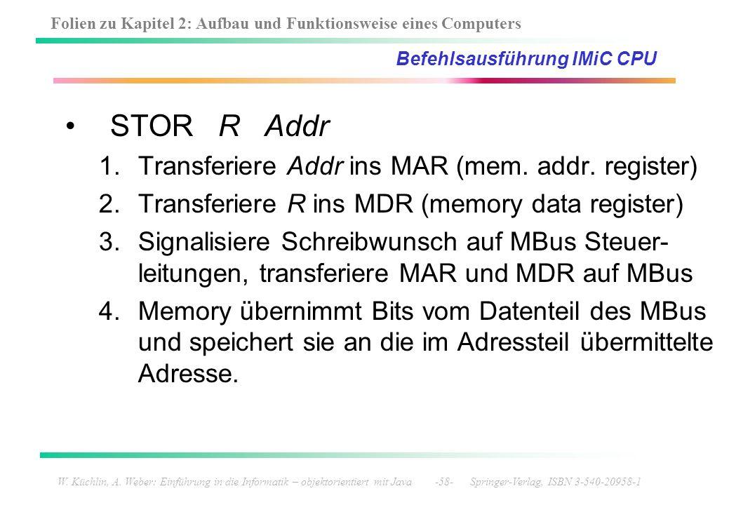 Befehlsausführung IMiC CPU