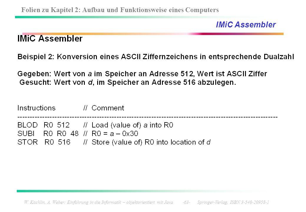 IMiC Assembler W. Küchlin, A.