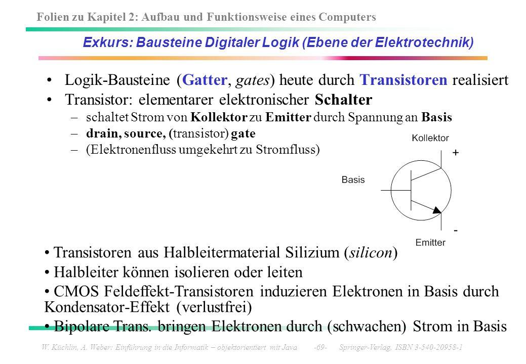 Exkurs: Bausteine Digitaler Logik (Ebene der Elektrotechnik)