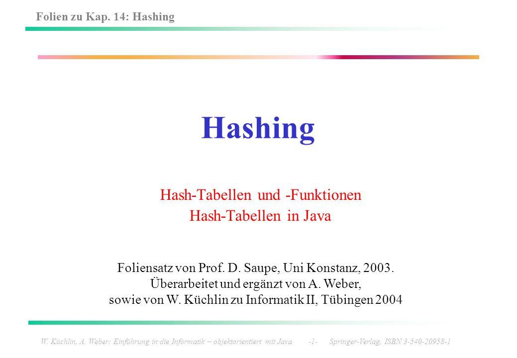 Hash-Tabellen und -Funktionen Hash-Tabellen in Java