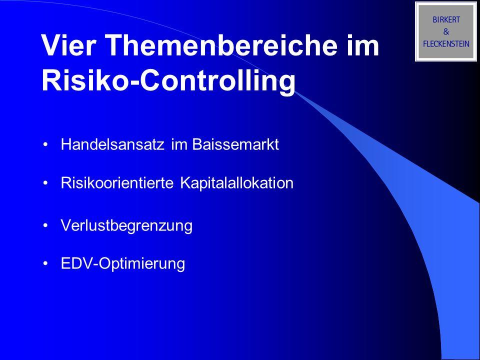 Vier Themenbereiche im Risiko-Controlling