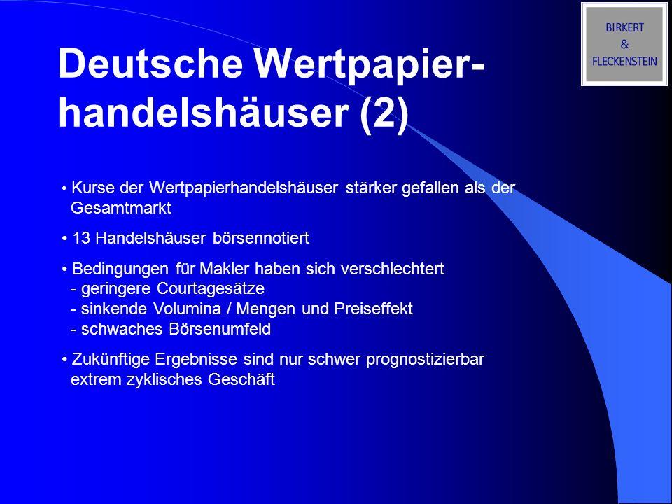 Deutsche Wertpapier-handelshäuser (2)