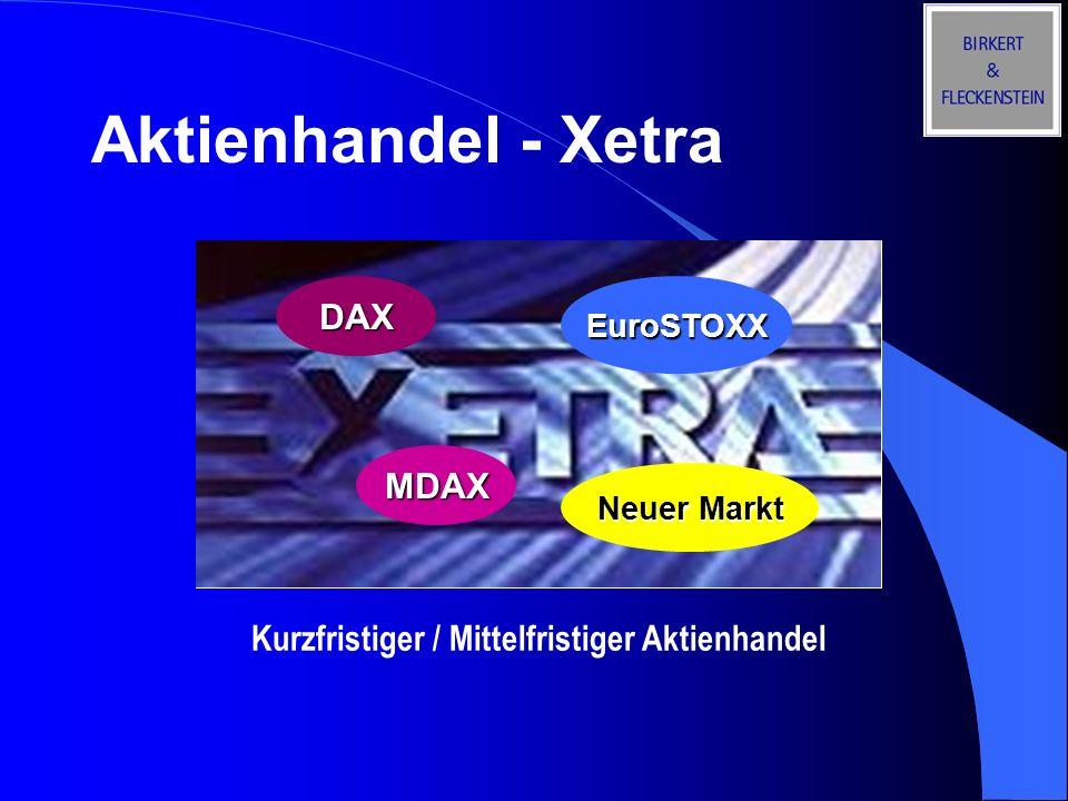 Aktienhandel - Xetra DAX MDAX
