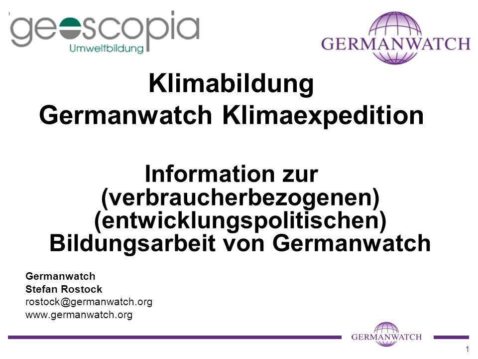 Germanwatch Klimaexpedition