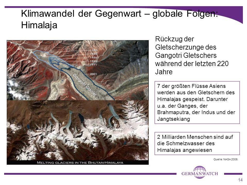 Klimawandel der Gegenwart – globale Folgen: Himalaja