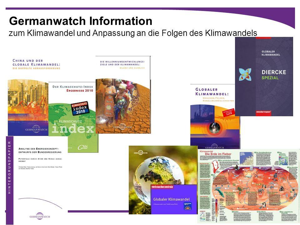 Germanwatch Information zum Klimawandel und Anpassung an die Folgen des Klimawandels