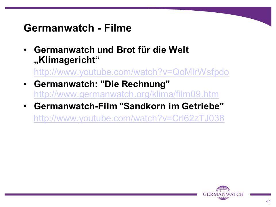 """Germanwatch - Filme Germanwatch und Brot für die Welt """"Klimagericht"""