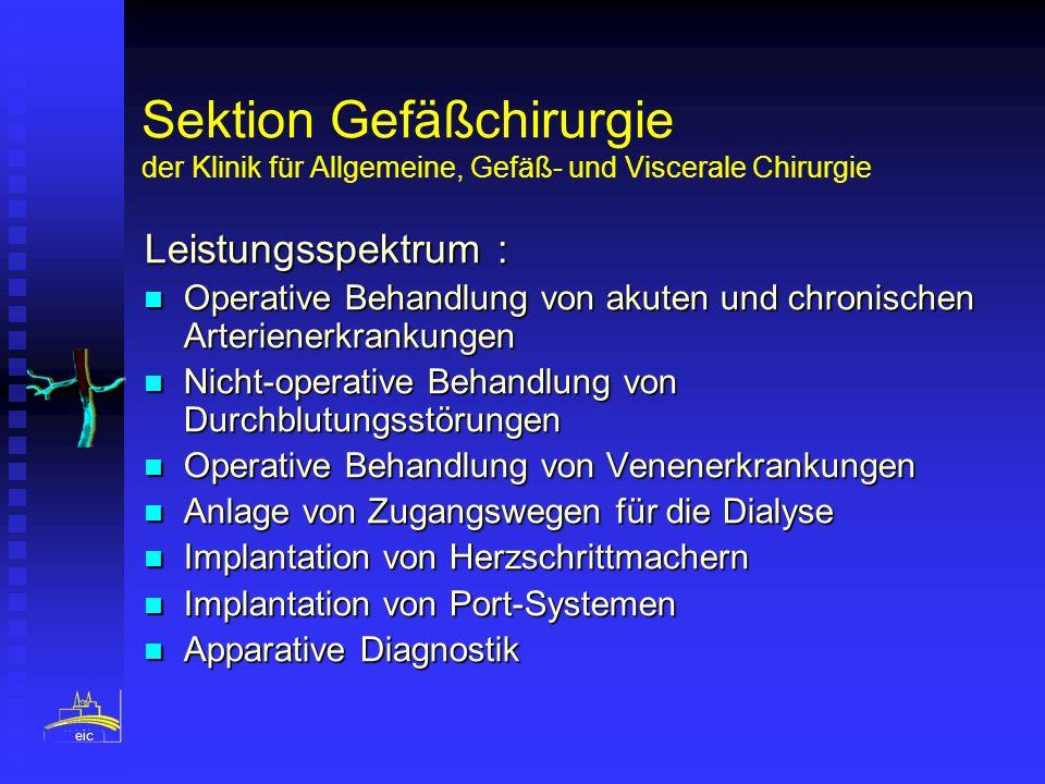 Sektion Gefäßchirurgie der Klinik für Allgemeine, Gefäß- und Viscerale Chirurgie