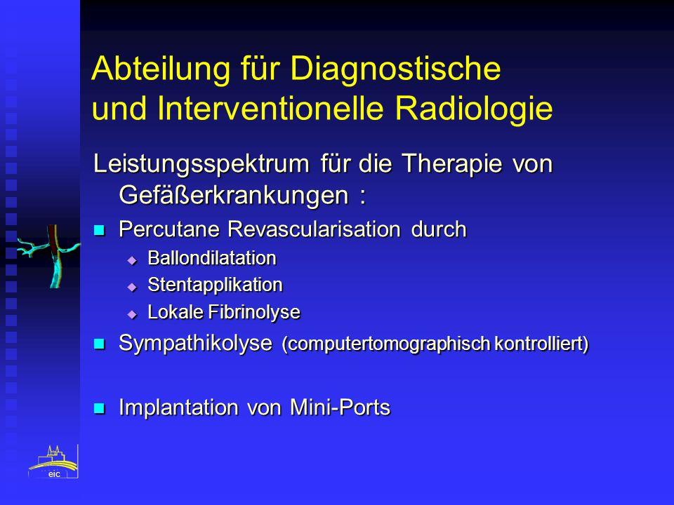 Abteilung für Diagnostische und Interventionelle Radiologie