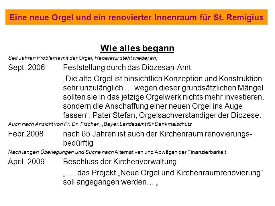 Eine neue Orgel und ein renovierter Innenraum für St. Remigius