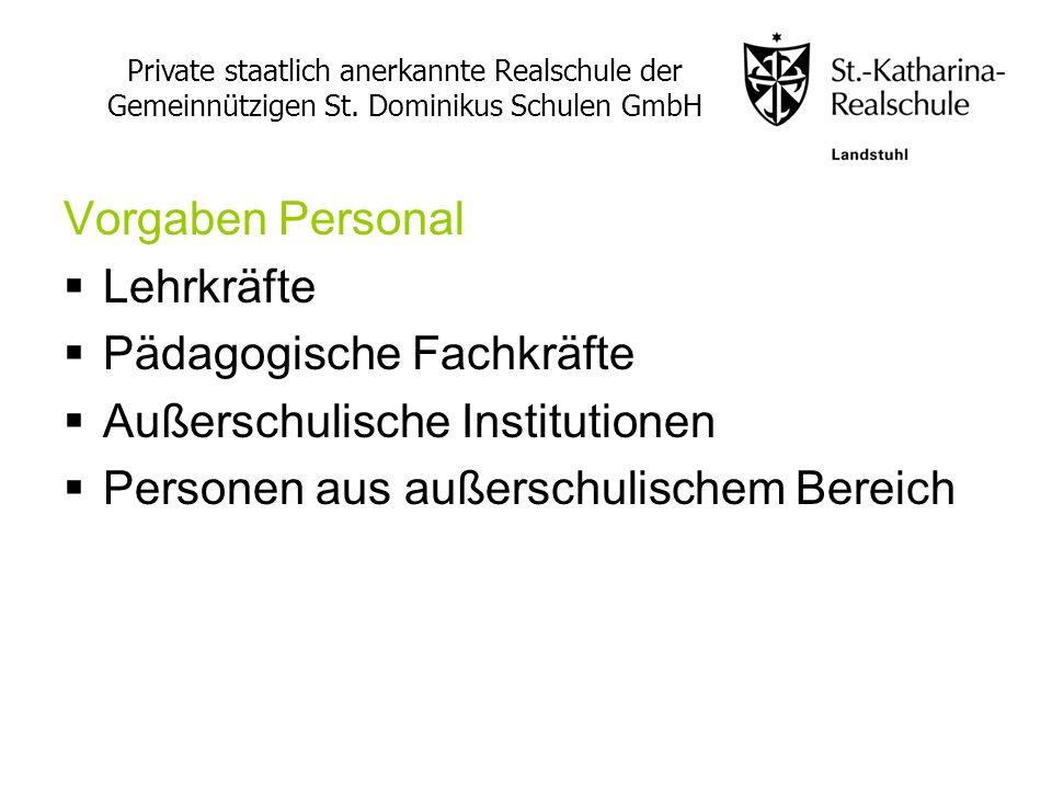 Pädagogische Fachkräfte Außerschulische Institutionen