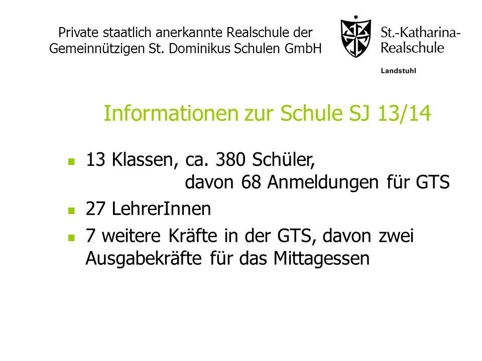 Informationen zur Schule SJ 13/14