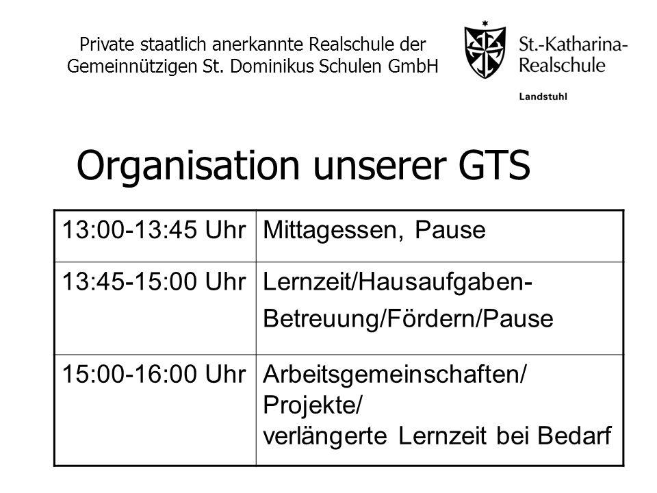Organisation unserer GTS