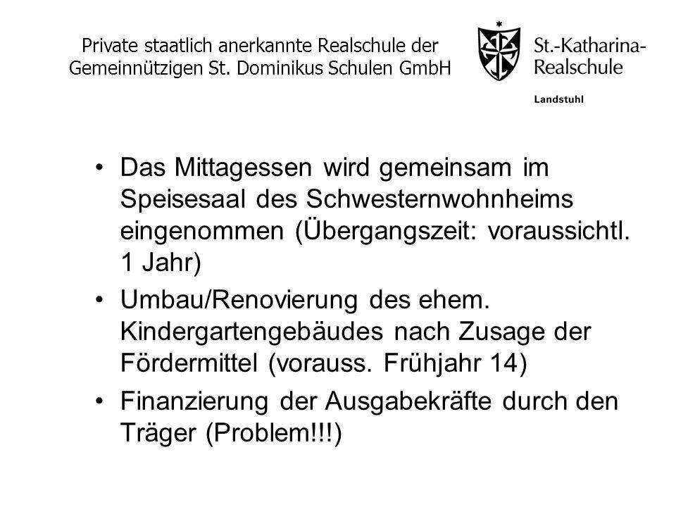 Finanzierung der Ausgabekräfte durch den Träger (Problem!!!)