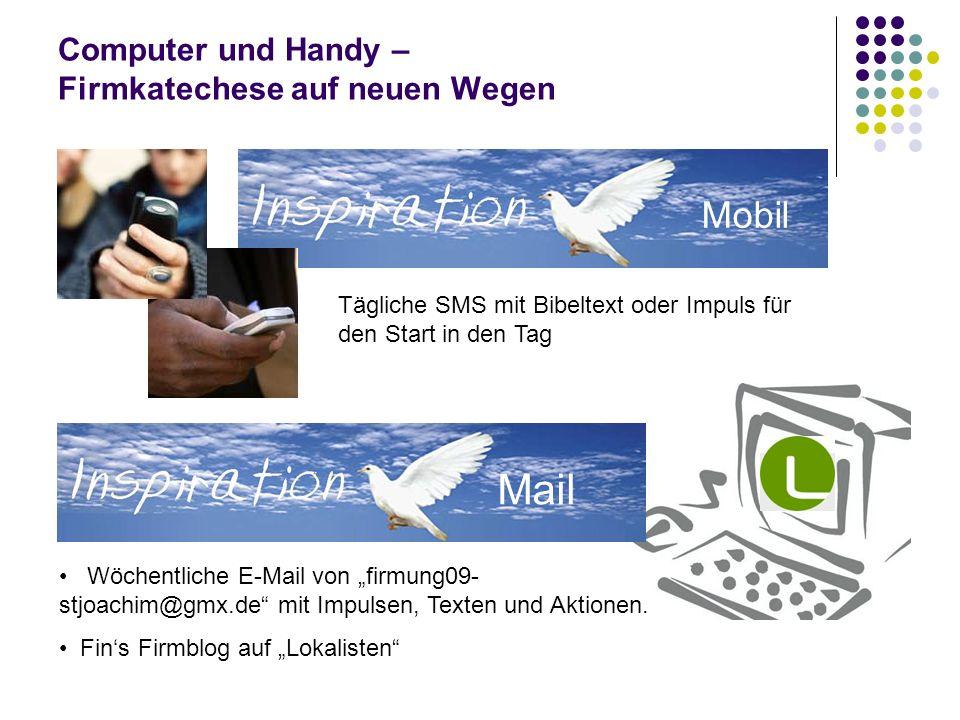 Computer und Handy – Firmkatechese auf neuen Wegen