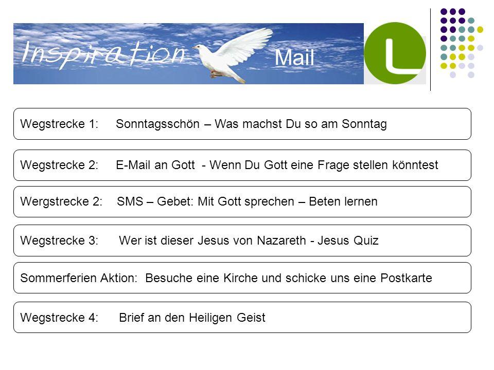 Mail Wegstrecke 1: Sonntagsschön – Was machst Du so am Sonntag