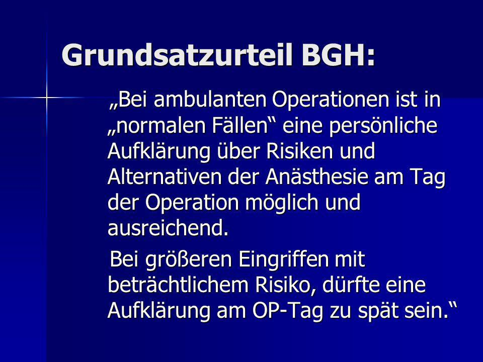 Grundsatzurteil BGH: