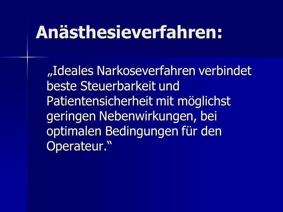 Anästhesieverfahren: