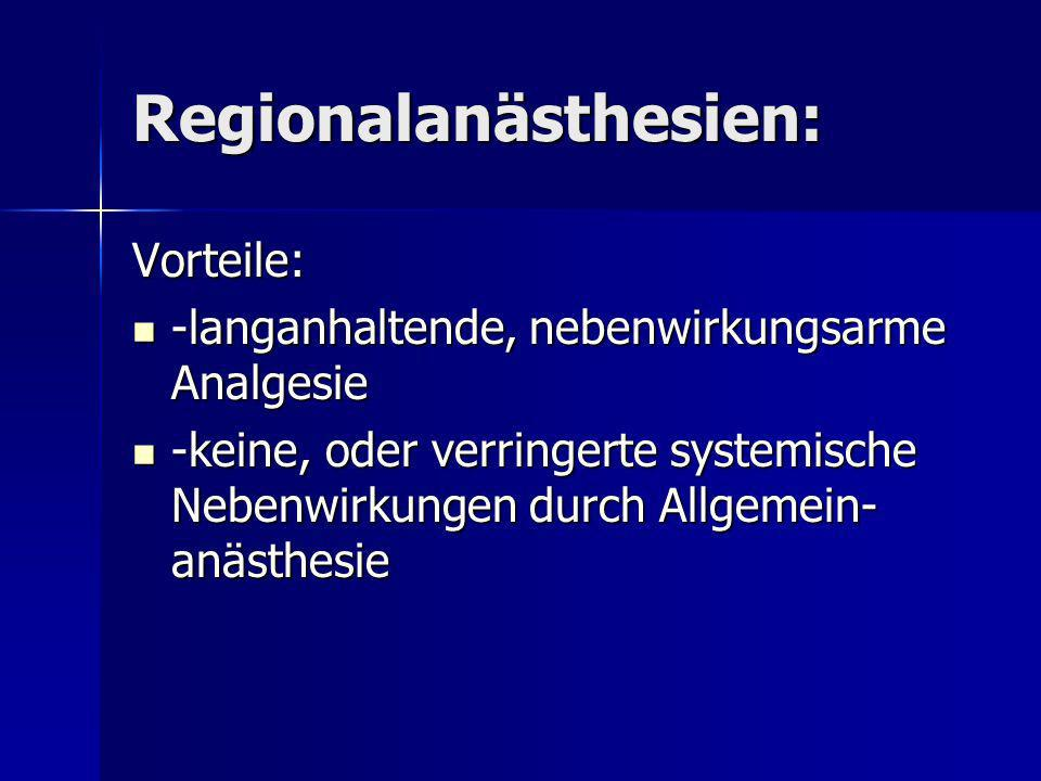 Regionalanästhesien: