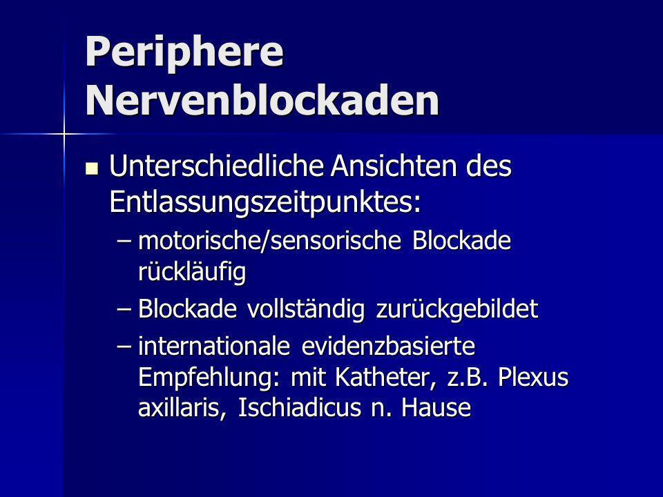 Periphere Nervenblockaden
