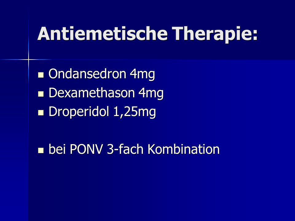 Antiemetische Therapie: