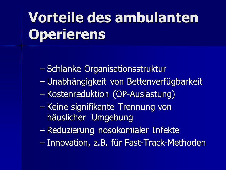 Vorteile des ambulanten Operierens