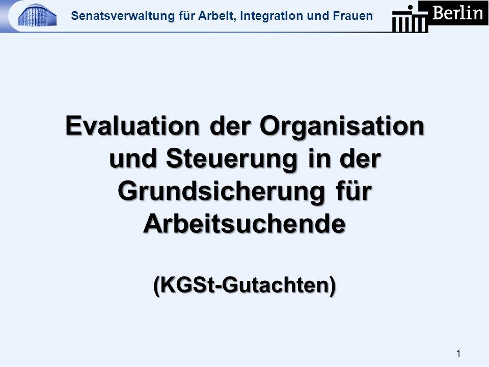 Evaluation der Organisation und Steuerung in der