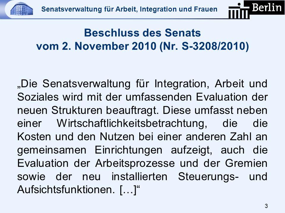 Beschluss des Senats vom 2. November 2010 (Nr. S-3208/2010)