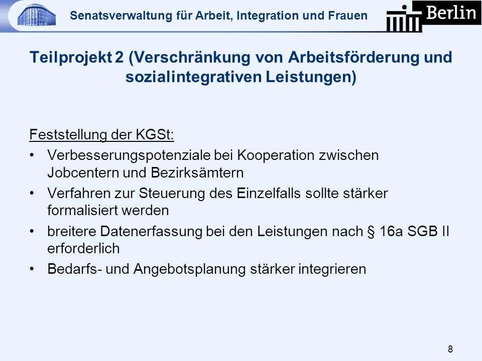 Teilprojekt 2 (Verschränkung von Arbeitsförderung und sozialintegrativen Leistungen)