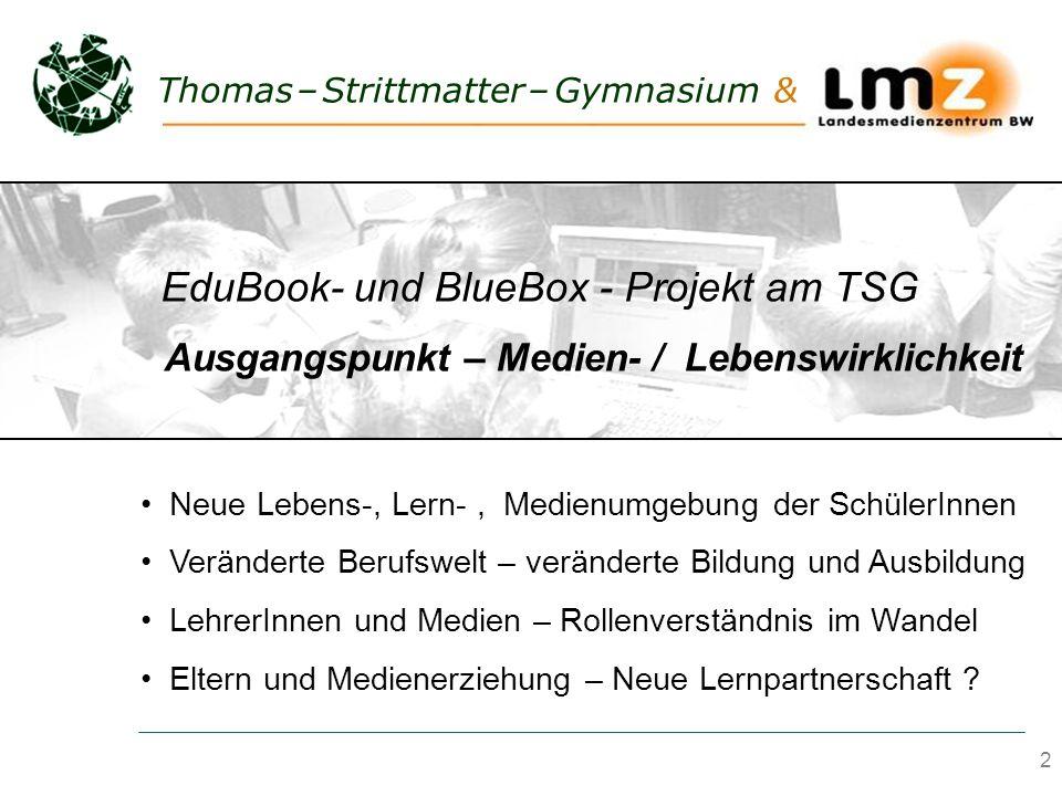 EduBook- und BlueBox - Projekt am TSG