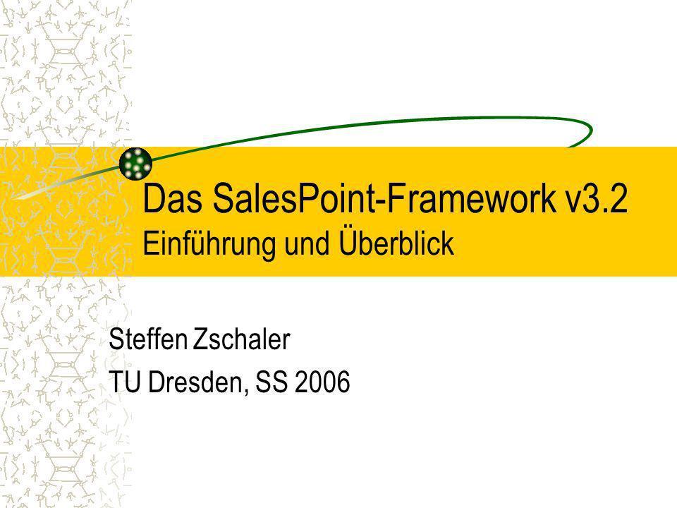 Das SalesPoint-Framework v3.2 Einführung und Überblick