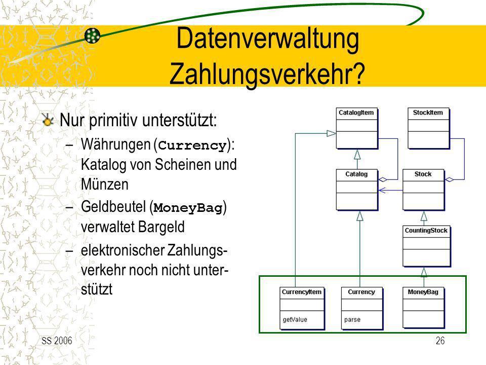 Datenverwaltung Zahlungsverkehr