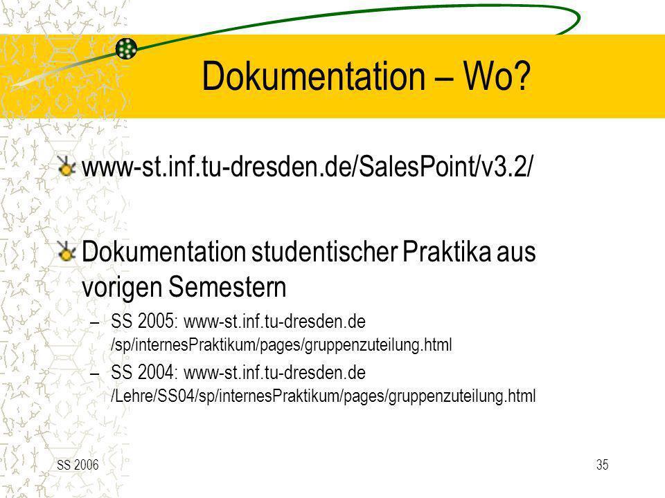 Dokumentation – Wo www-st.inf.tu-dresden.de/SalesPoint/v3.2/