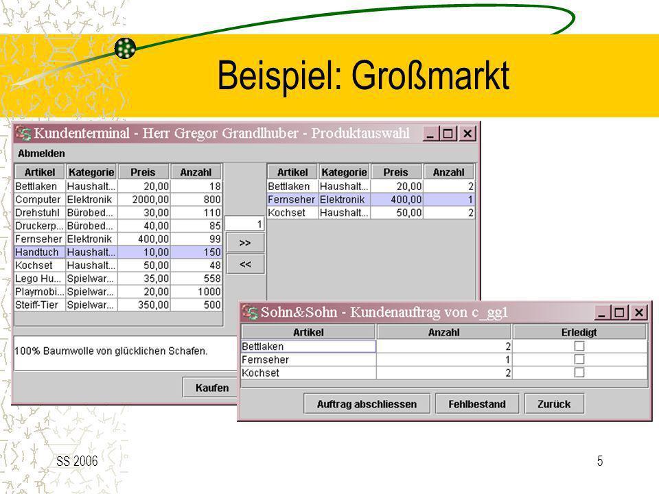 Beispiel: Großmarkt SS 2006