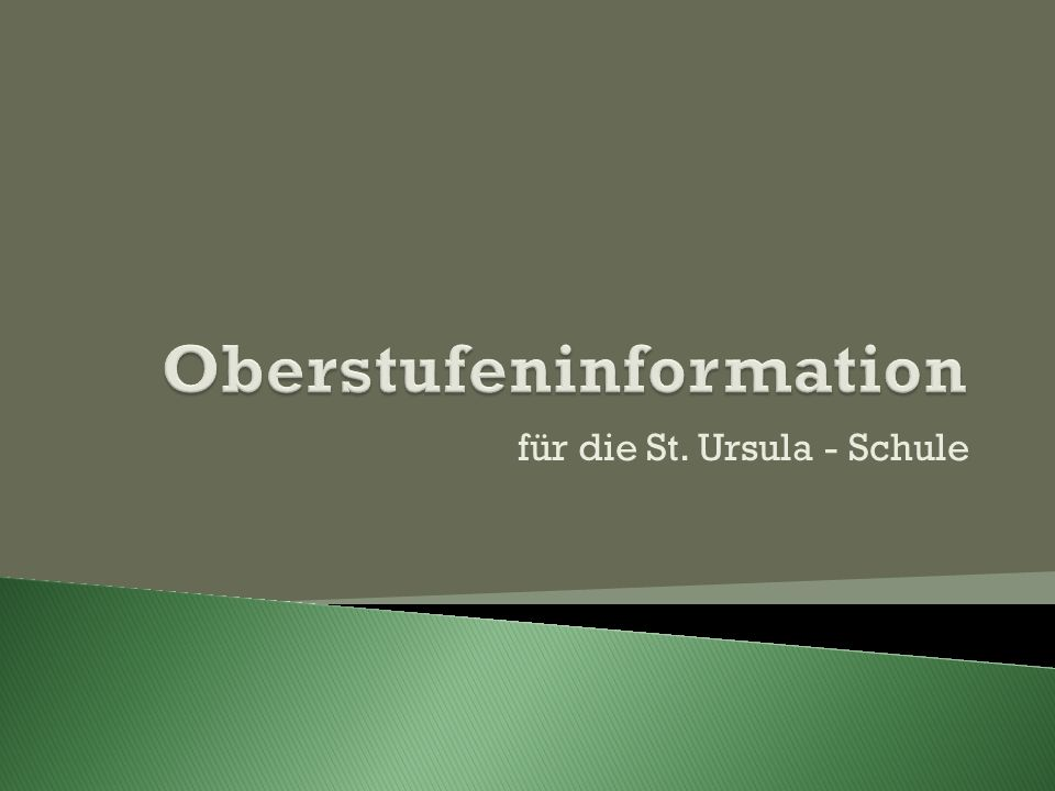 Oberstufeninformation